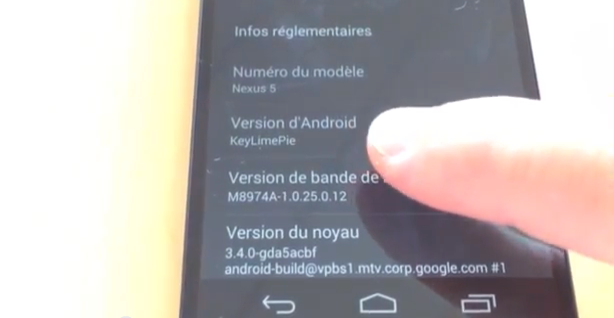Video test NEXUS5 Android
