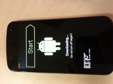 Hard reboot du Android 4.0 Galaxy nexus