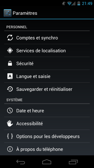 Galaxy nexus prime ICS