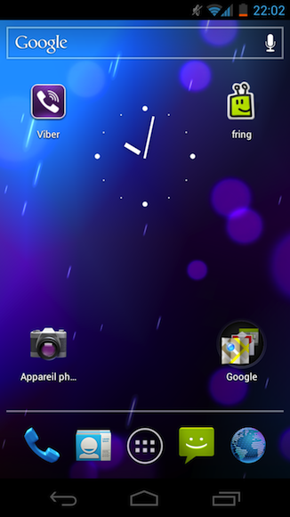 Galaxy NEXUS ICS Google