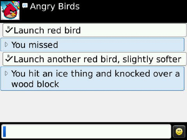 Angry Birds pour Blackberry